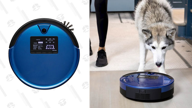 Conquer Your Pup's Dander and Fur With $700 Off a Cobalt or Charcoal Bobsweep PetHair Plus Robot Vacuum