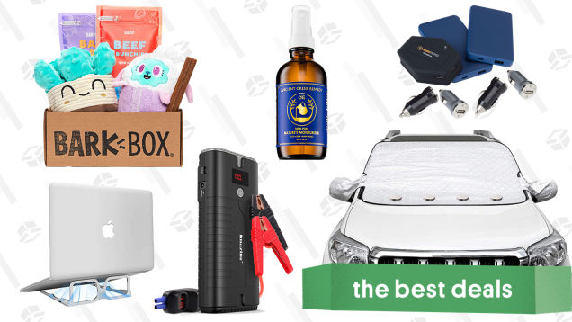 Sunday's Best Deals: BarkBox Subscription, Car Jump Starter, Portable Laptop Stand, Mophie Powerstation Charging Bundle, Windshield Snow Covers, and More